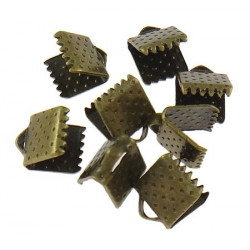 20 Embout Serre Ruban Bronze 8mm x 6mm MC0800016